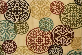 Oriental Weavers Aston 2160Y Geometric Beige and Multicolor Area Rug