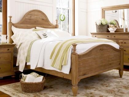 Paula Deen Down Home Bed in Oatmeal Finish