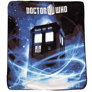 Doctor Who Gallifrey Throw in Blue