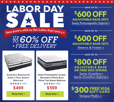 Labor Day Sale ad
